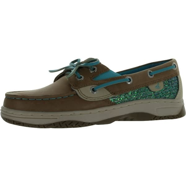 7bfb498c25ac Sperry Top-Sider Girls Butterflyfish Boat Shoes - linen turquoise
