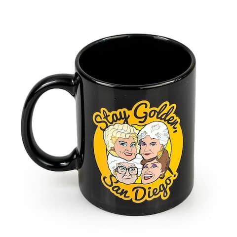 The Golden Girls Stay Golden San Diego Ceramic Mug 11 Ounces Golden Girls Mug - Black