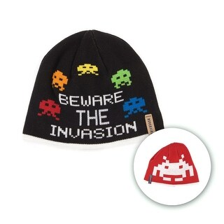Space Invaders Reversible Beanie