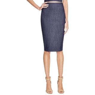 Elizabeth and James Womens Pencil Skirt Denim Knee-Length
