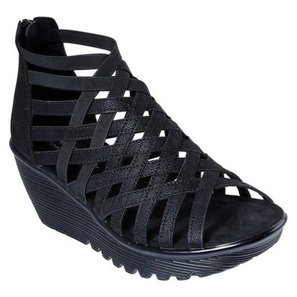 584fb658095 Shop Skechers Women s Parallel Dream Queen Wedge Sandal Black - On ...