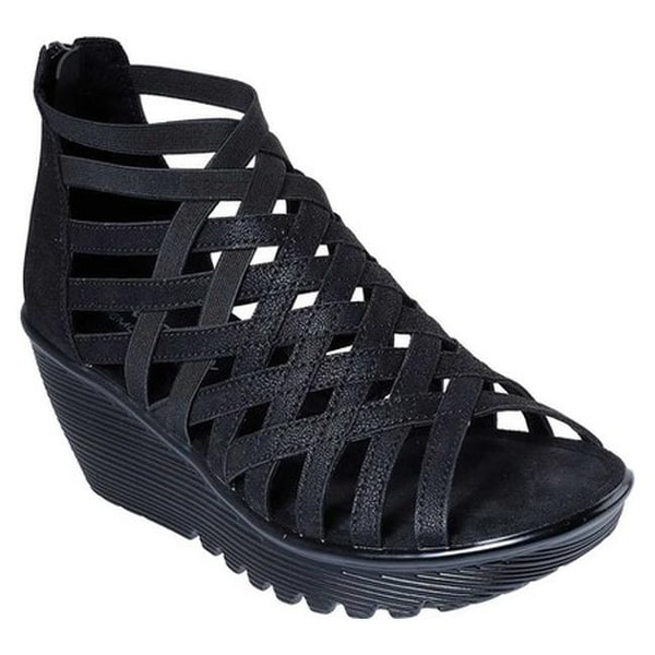 21ecb51b09346 Shop Skechers Women's Parallel Dream Queen Wedge Sandal Black - On Sale -  Free Shipping On Orders Over $45 - Overstock - 20474827