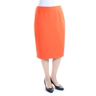KASPER $69 Womens New 1308 Orange Below The Knee Sheath Casual Skirt 4 B+B