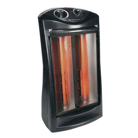 Comfort Zone CZQTV007BK Fan-Assisted Tower Radiant Quartz Heater, Black