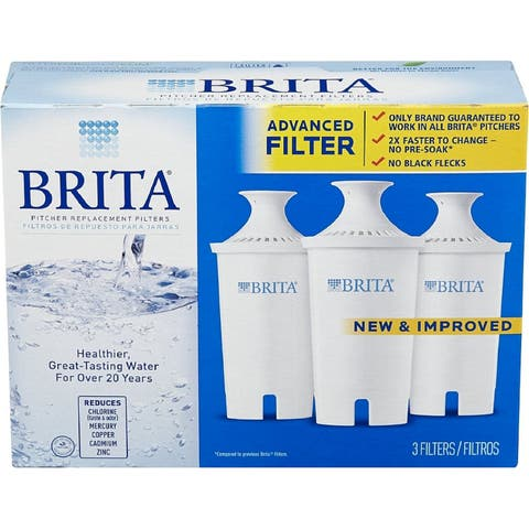 Brita Water Pitcher Replacement Filters, White 3 ea
