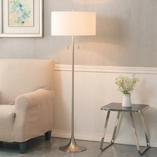 Kent 61-inch Brushed Steel Floor Lamp. Opens flyout.