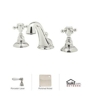 Rohl A1408LP-2 Country Bath Widespread Bathroom Faucet with Pop-Up Drain and Porcelain Lever Handles