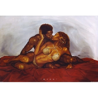 ''Kiss'' by WAK - Kevin A. Williams Romantic Art Print (24 x 36 in.)