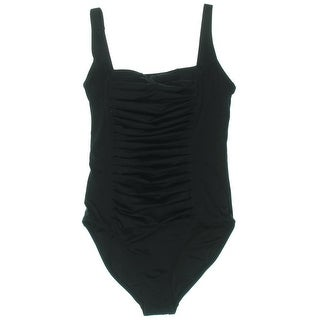 Calvin Klein Womens Ruched Adjustable One-Piece Swimsuit