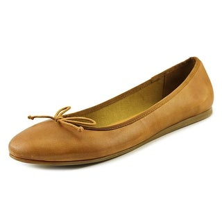Franco Sarto Zapp Women Round Toe Leather Tan Flats