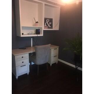 Kathy Ireland® Office Volcano Dusk Double Pedestal Desk