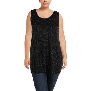 MBLM By Tess Holliday Womens Plus Casual Top Faux Leather Trim Sleeveless