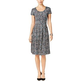 NY Collection Petite Printed Fit Flare Dress