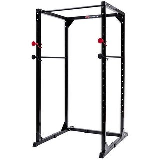 Goplus Power Rack Pull Chin Up Bars Squat Lift Cage Fitness Workout Strength Training