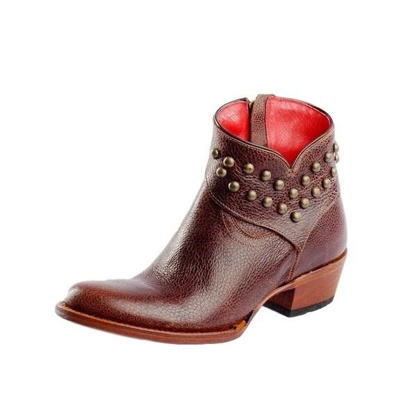Macie Bean Western Boots Women Come Heck High Water Short Cognac