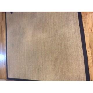 Safavieh Casual Natural Fiber Hand-Woven Serenity Marble / Grey Sisal Rug (6' Square)