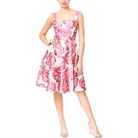 Betsey Johnson Womens Party Dress Jacquard Floral