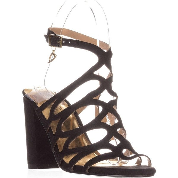 Thalia TS35 Kiarah Block-Heel Dress Sandals - Black - 7