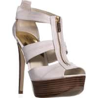 MICHAEL Michael Kors Berkley T-Strap Platform Sandals, Vanilla - 10 us
