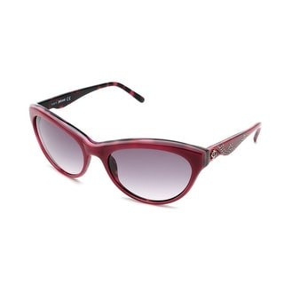 Just Cavalli Women's Cat Eye Sunglasses Red/Dark Rose - Small
