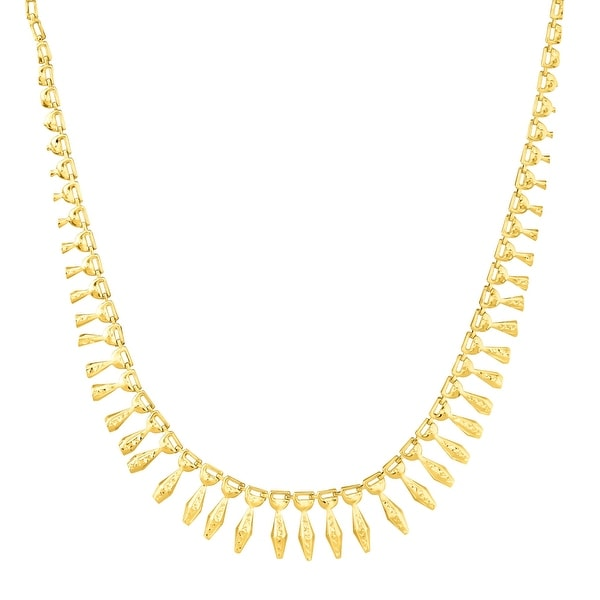 Eternity Gold Graduating Drop Necklace in 14K Gold