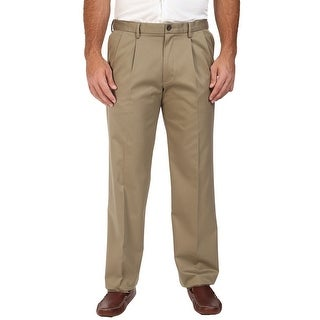 Dockers Big and Tall Signature Khaki Double Pleated Chinos Pants Beige 38 x 36