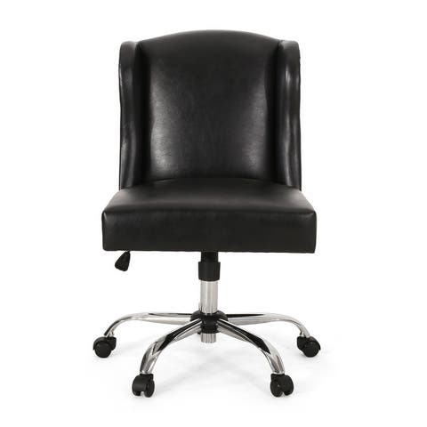 Bergen Contemporary Wingback Swivel Office Chair by Christopher Knight Home