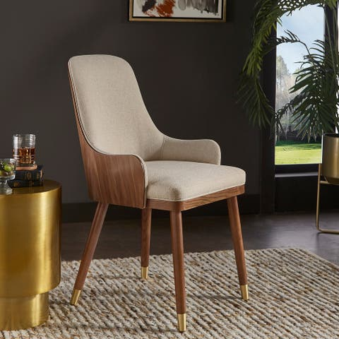 Sasha Walnut and Copper Dining Chairs by iNSPIRE Q Modern