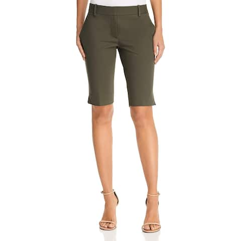Theory Womens Bermuda Shorts Tailored Knee-Length