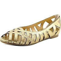 Thalia Sodi Womens Zuly Peep Toe Slide Flats