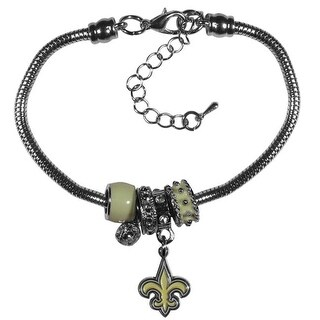 New Orleans Saints Bracelet - Euro Bead