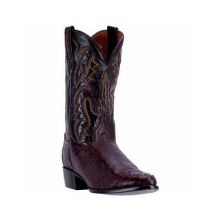 Dan Post Western Boots Mens R Toe Leather Cowboy Black DPP5207