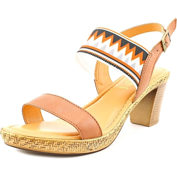 Bella Vita Ponza Women WW Open Toe Leather Tan Sandals