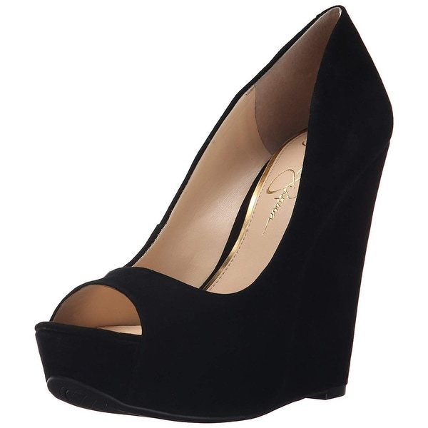 56f9383866f8 Shop Jessica Simpson Womens BETHANI-005 Peep Toe Wedge Pumps - 8 ...