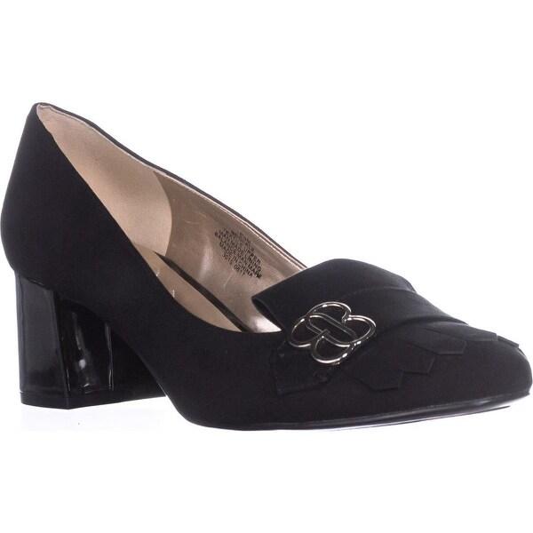 Bandolino Olale Loafer Heels, Black