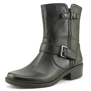 Anne Klein Leyna Round Toe Leather Ankle Boot