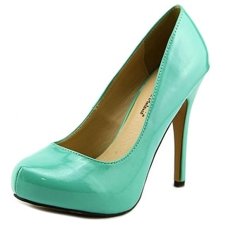 Michael Antonio Love Me Women Open Toe Synthetic Green Platform Heel