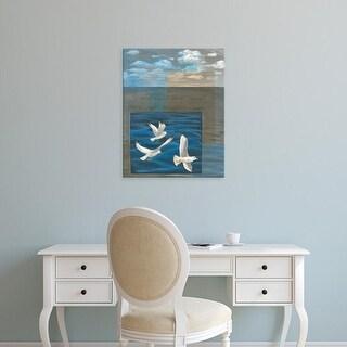 Easy Art Prints Tara Friel's 'Three White Gulls I' Premium Canvas Art