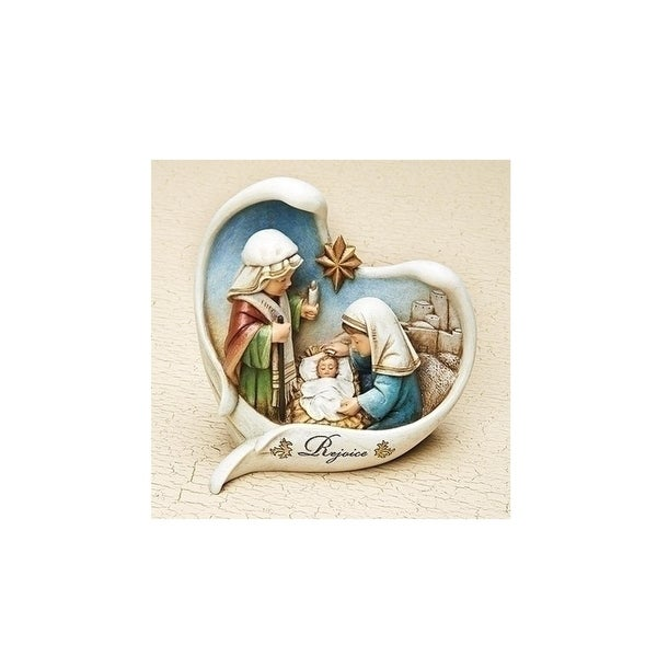 """5.5"""" Children's Nativity Scene With Angel Wings Christmas Table Top Decoration"""