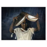 ''Sheltered'' by Edwin Lester African American Art Print (26 x 34 in.)