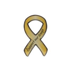 Pilot Automotive Support Our Troops Ribbon ABS Plastic Emblem