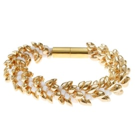 Deluxe Beaded Kumihimo Bracelet (Gold) - Exclusive Beadaholique Jewelry Kit