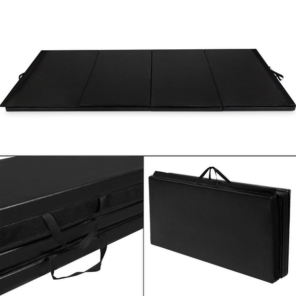 "Shop Costway Black 4'x10'x2"" Thick Folding Panel"