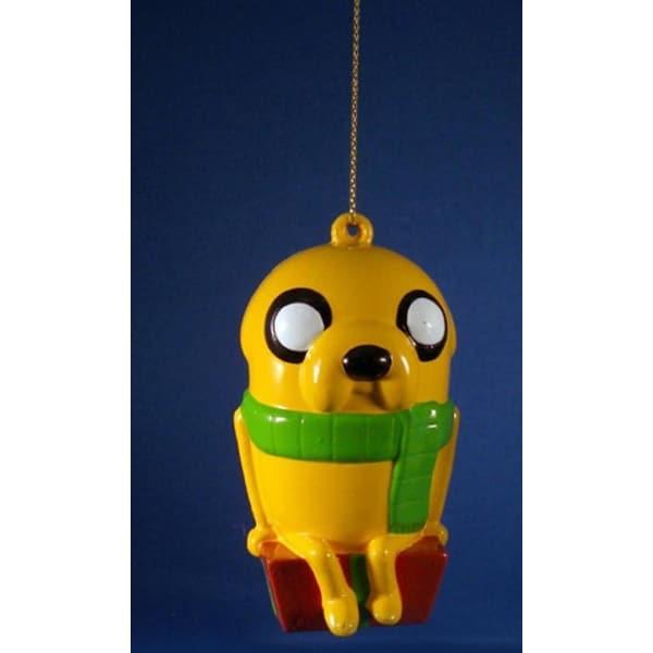 "3.5"" Adventure Time™ Jake on Gift Box Decorative Christmas Ornament"