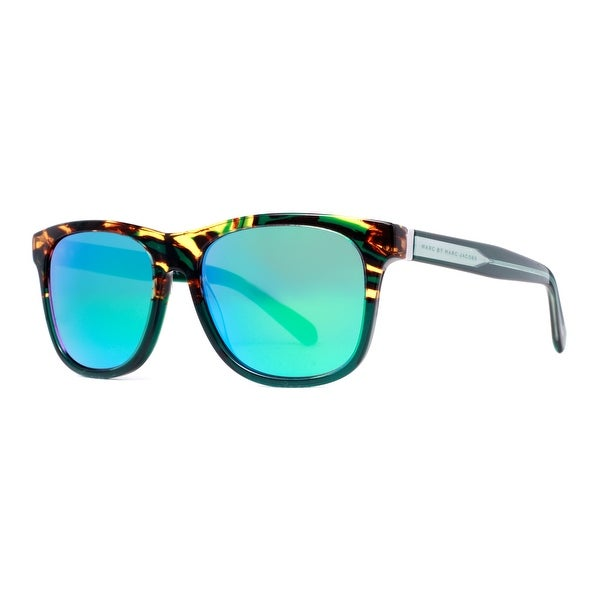 Marc by Marc Jacobs MMJ 360/N/S LJO Z9 Havana Brown/Green Mirrored Sunglasses - havana brown/green - 54mm-17mm-140mm