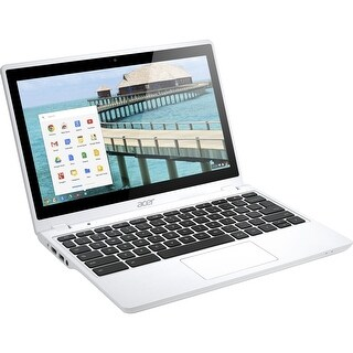 Acer Chromebook C720P-2457 Intel Celeron 2957U X2 1.4GHz 4GB 32GB SSD, White (Certified Refurbished)