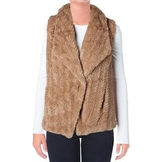 Wild Flower Womens Faux Fur Lined Outerwear Vest