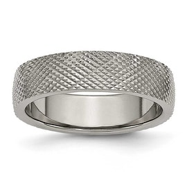 Titanium 6mm Textured Band