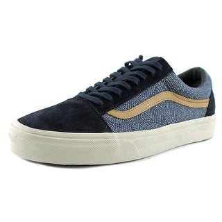 Vans Old Skool Reissue CA Men Round Toe Canvas Blue Fashion Sneakers