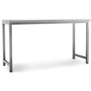 NewAge Products Outdoor Kitchen Classic 64 Inch W x 24 Inch D Prep Table - STAINLESS STEEL